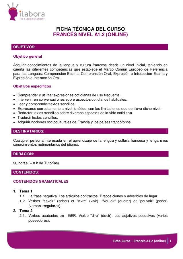 Francés nivel a1.2