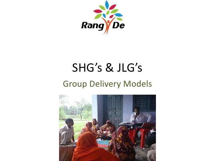 SHG's & JLG's<br />Group Delivery Models<br />