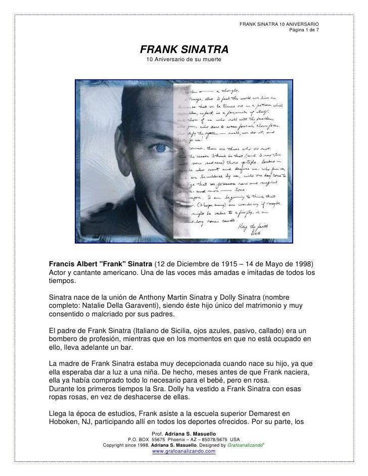 FRANK SINATRA 10 ANIVERSARIO                                                                                              ...