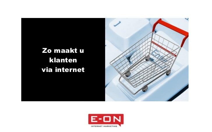 Frank De Neve - Zo maakt u klanten via het Internet