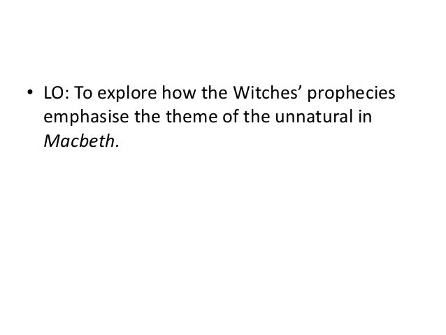 the role and significance of the witches in macbeth What was the witches' role in macbethin shakespeare's time, many people were superstitious they believed that that their lives were.
