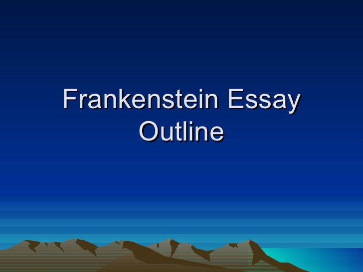 Thesis Statement For Frankenstein