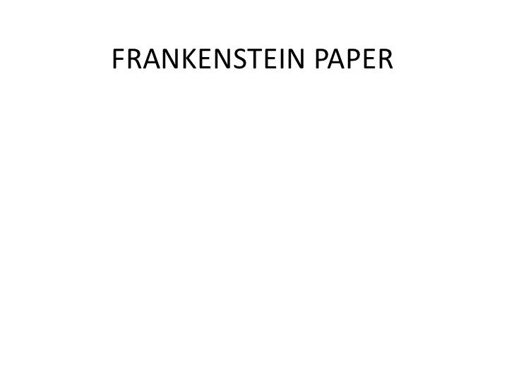 frankenstein research papers Essays, term papers, book reports, research papers on literature: frankenstein these results are sorted by most relevant first (ranked search.