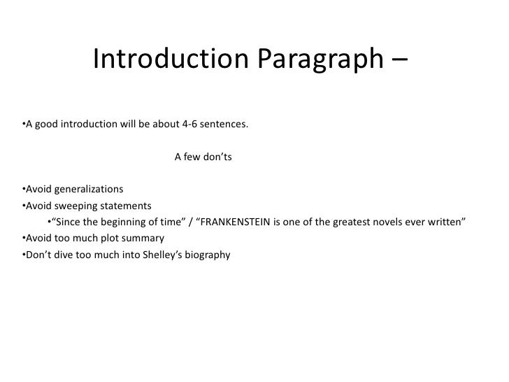 What is a good introduction sentence for an essay?