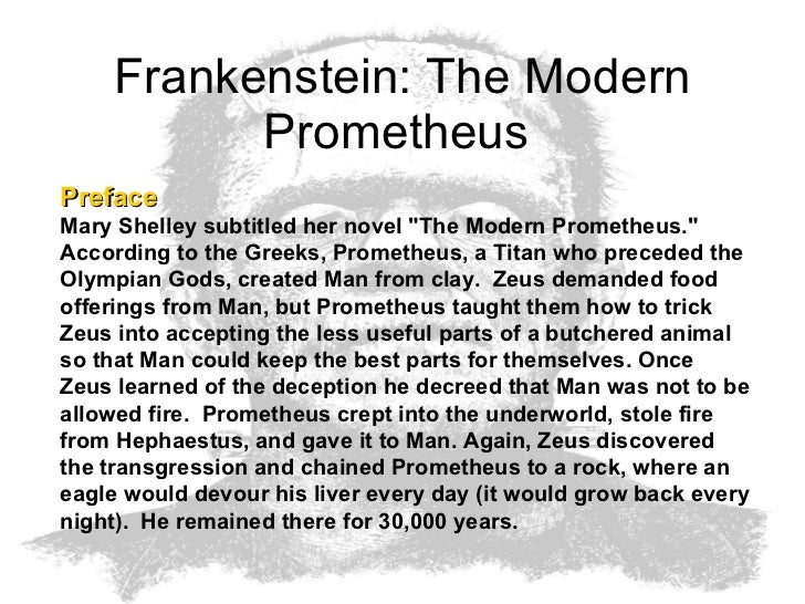essay of frankenstein Mary shelley, with her brilliant tale of mankind's obsession with two opposing forces: creation and science, continues to draw readers with frankenstein's many.