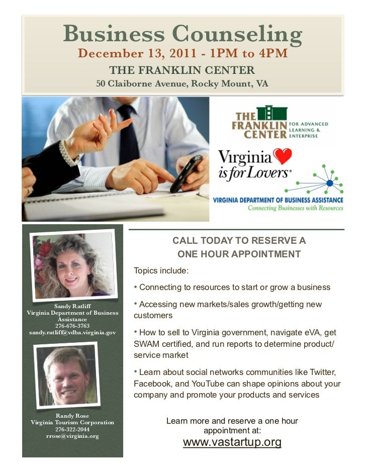 Franklin County Business Counseling, December 2011