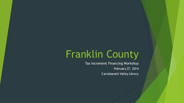 Franklin County TIF Workshops Presentation