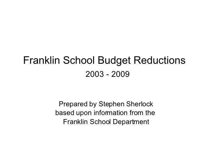 Franklin MA School Budget Reductionsv2