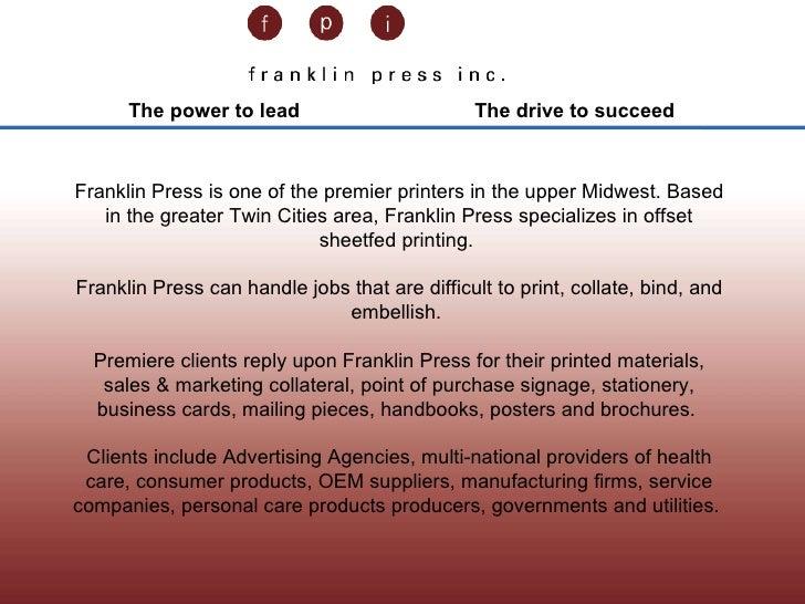 Franklin Press Linkedin