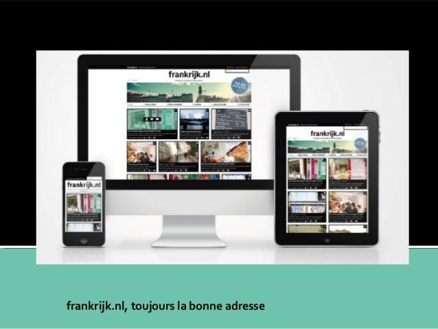 Ceci n'est pas un site, ceci n'est pas un magazine! Ceci est un webazine  frankrijk.nl, toujours la bonne adresse