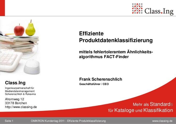 Effiziente                                                          Produktdatenklassifizierung                           ...