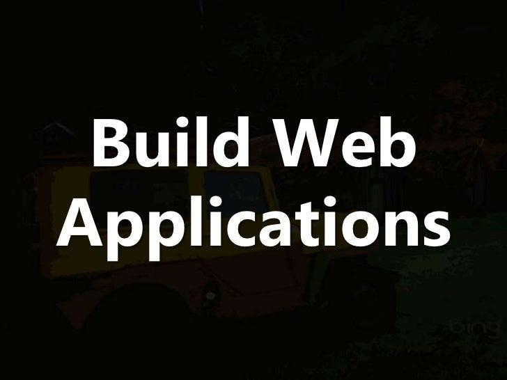 Build WebApplications