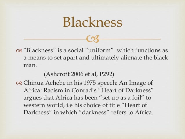 Essay of racism