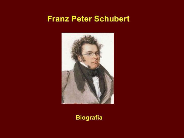 Franz Peter Schubert Biografía