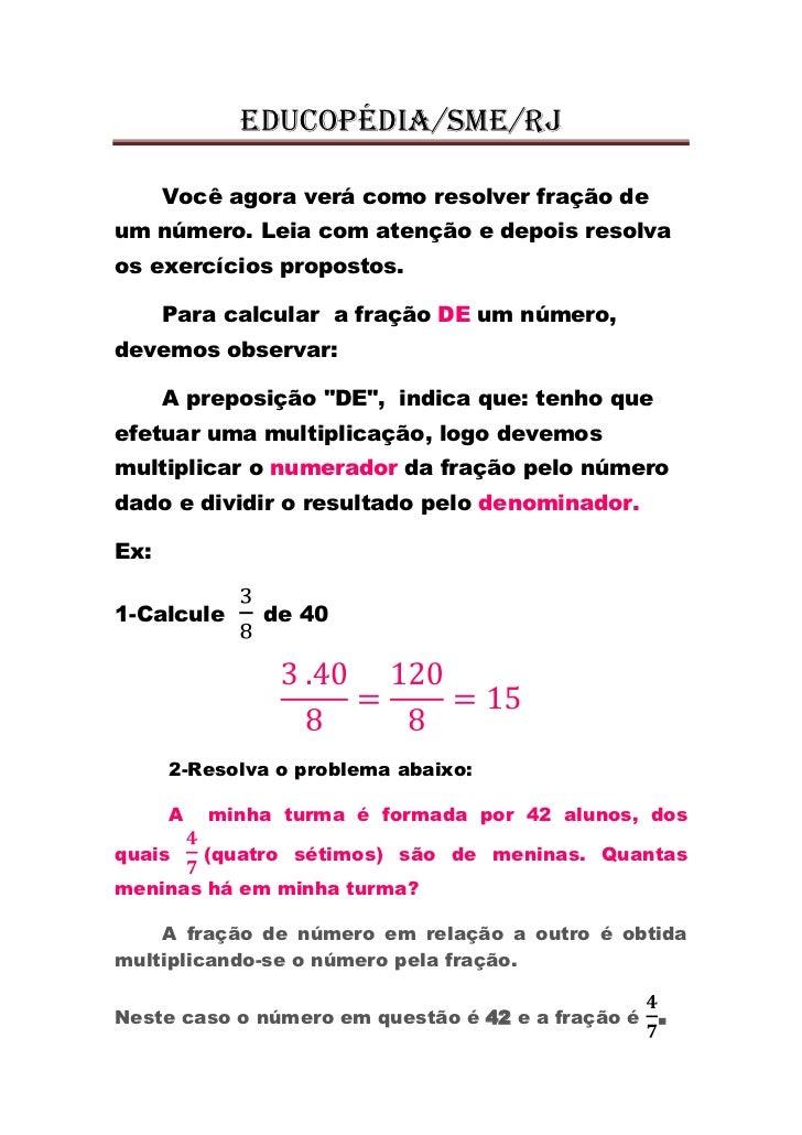 Fração de um número aula26