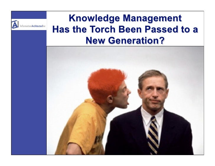 Knowledge Management Has the Torch Been Passed to a        New Generation?
