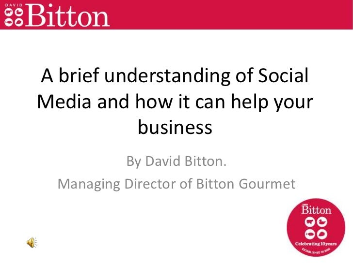 Bitton Gourmet Social Media Presentation