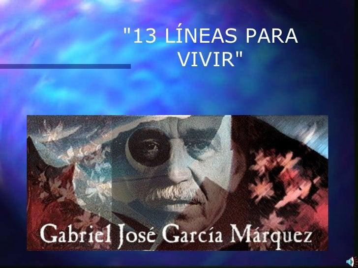 """13 LÍNEAS PARA VIVIR"""