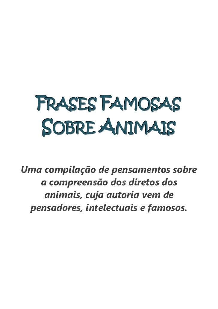 Frases famosas sobre animais