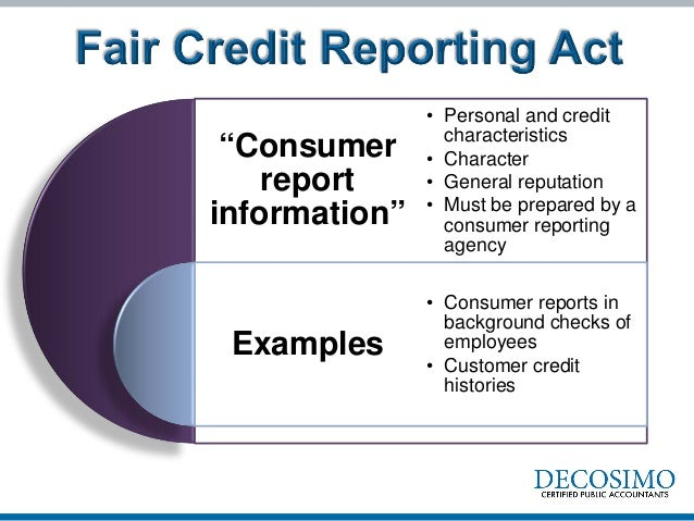 fair credit report act Information on the fair credit reporting act for landlords and property managers to comply with federal trade commission guidelines blog home current news.
