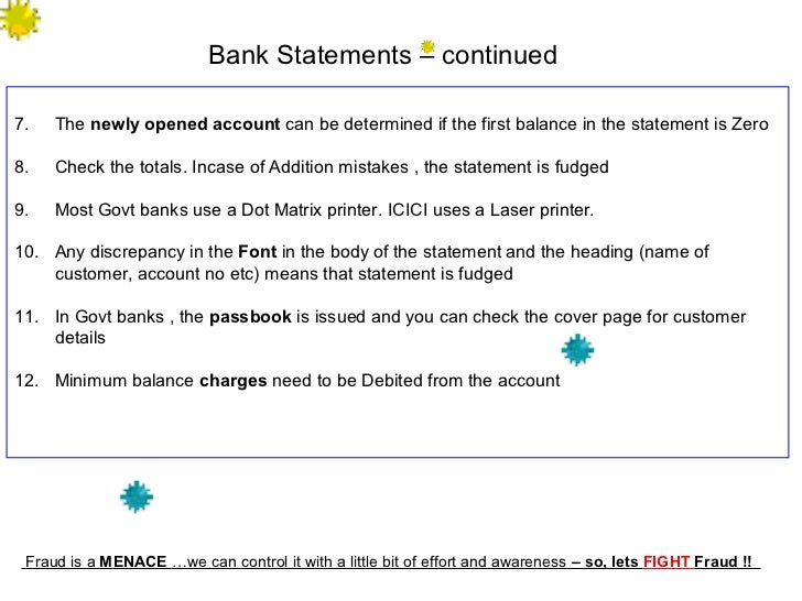 Fraud containment process - Post office bank statements ...