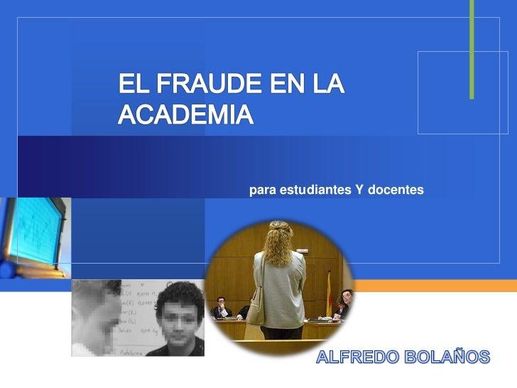 Fraude academico estudiantes
