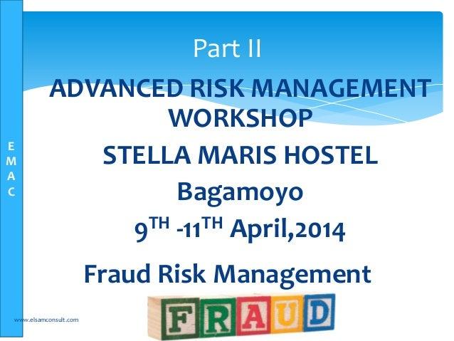 Fraud risk management training - Elsam Management Consultants