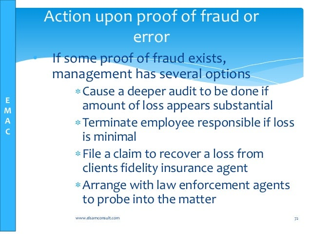 auditor's responsibilities in fraud and error