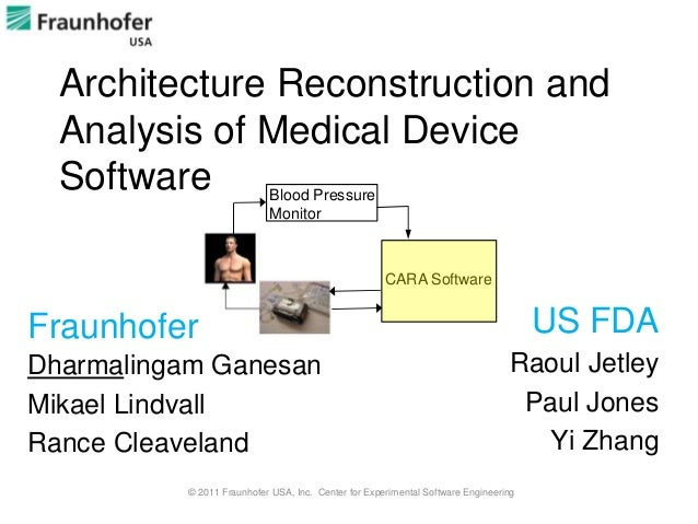 Architecture Reconstruction and  Analysis of Medical Device  Software                 Blood Pressure                      ...
