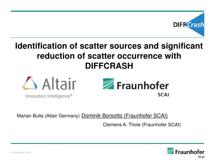 Identification of scatter sources and significant         reduction of scatter occurrence with                      DIFFCR...