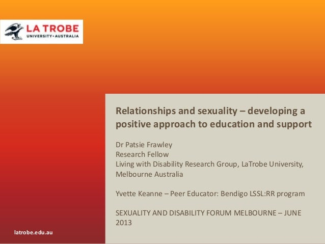 Relationships and sexuality – developing a positive approach to education and support