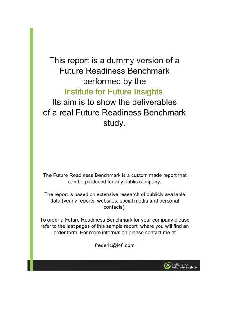 Future Readiness Benchmark sample report