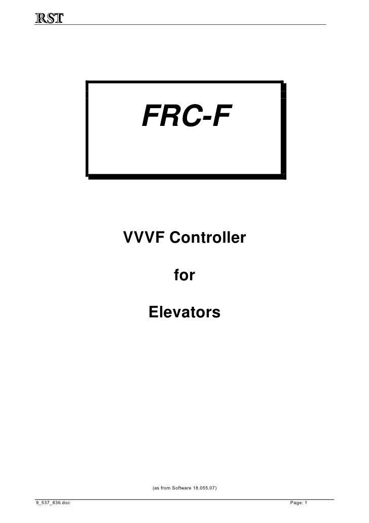 FRC-F                   VVVF Controller                              for                     Elevators                    ...