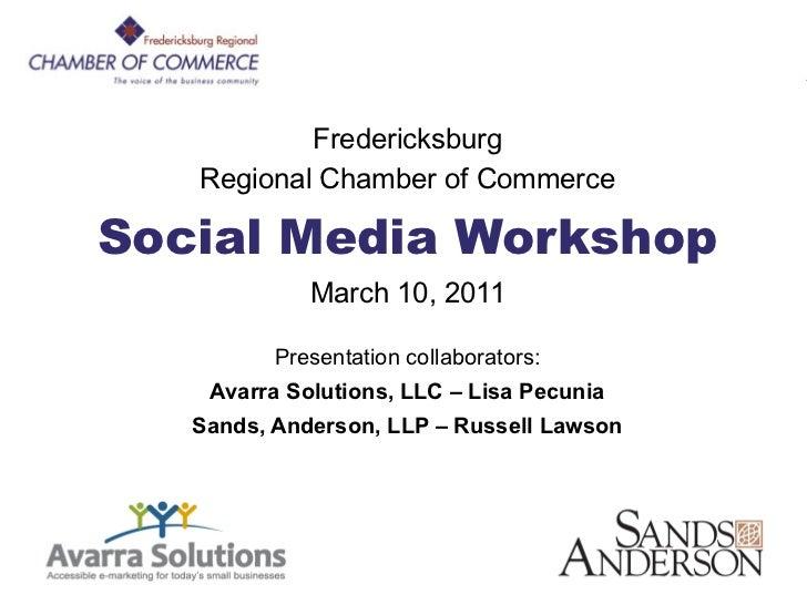 FRCC Social Media                 Workshop               Fredericksburg       Regional Chamber of Commerce    Social Media...