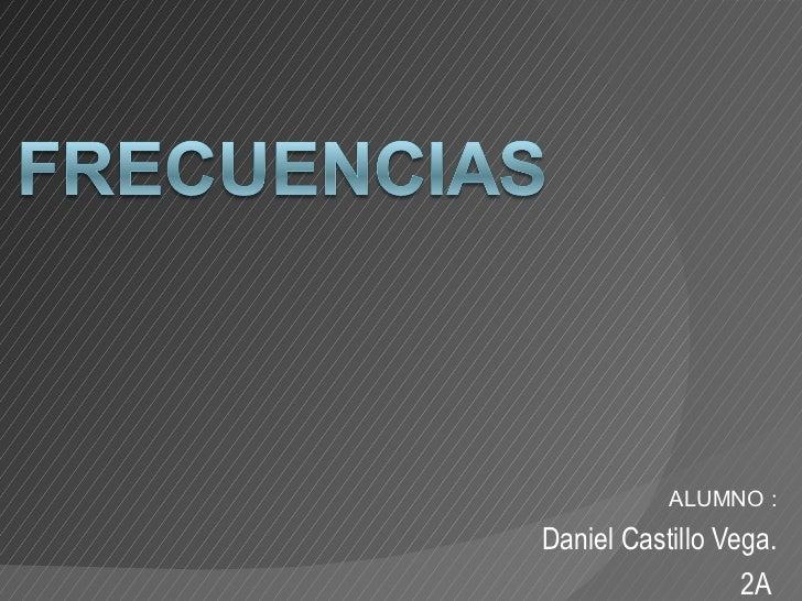 ALUMNO :Daniel Castillo Vega.                  2A