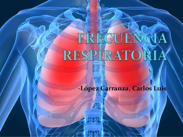 Frecuencia respiratoria Patrones respiratorios