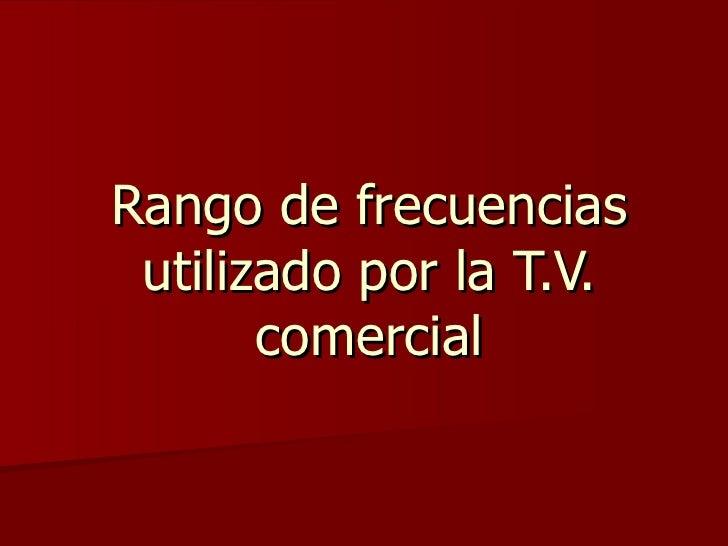 Frecuencias de tv