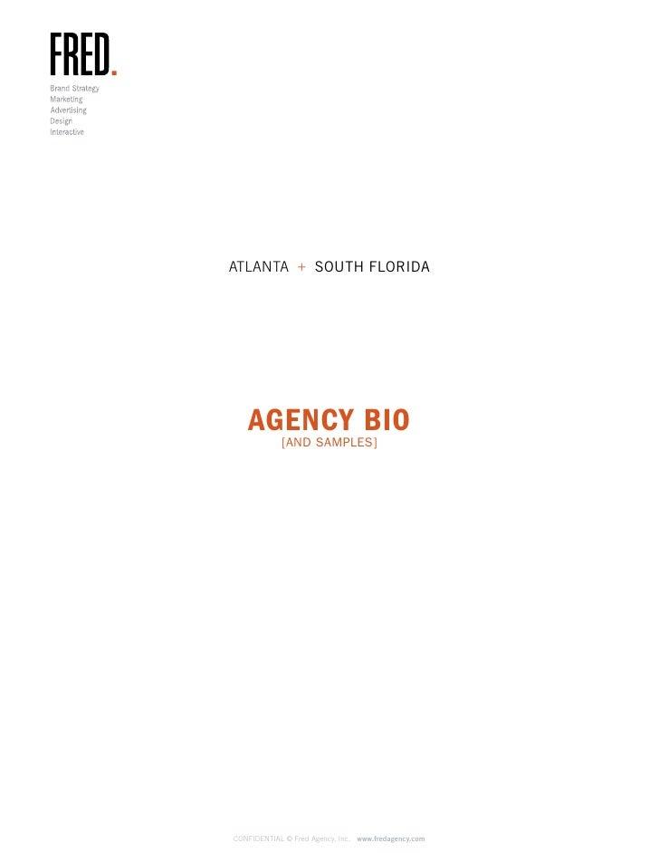 Fred Agency Bio