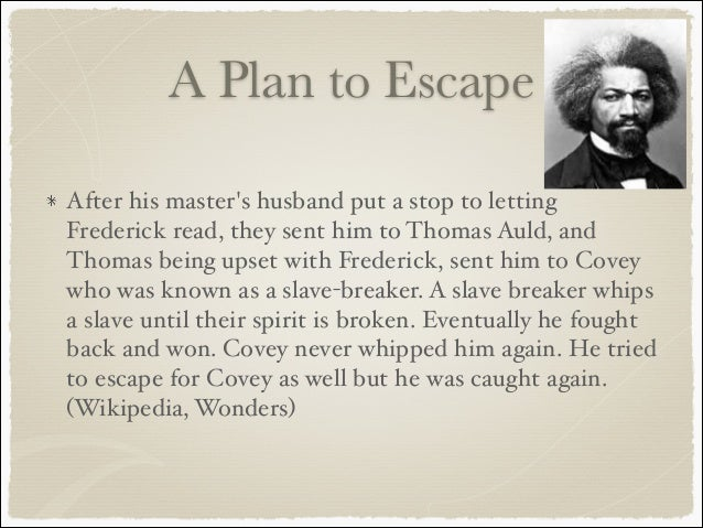 frederick douglass escaped from slavery essay Analysis of frederick douglass's rhetorical style essay douglass escaped from his master and narrative of the life of frederick douglass, an american slave.