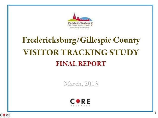Fredericksburg Visitor Research 2012-13