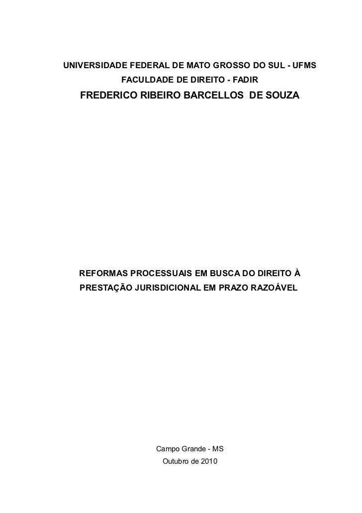 Frederico ribeiro   monografia