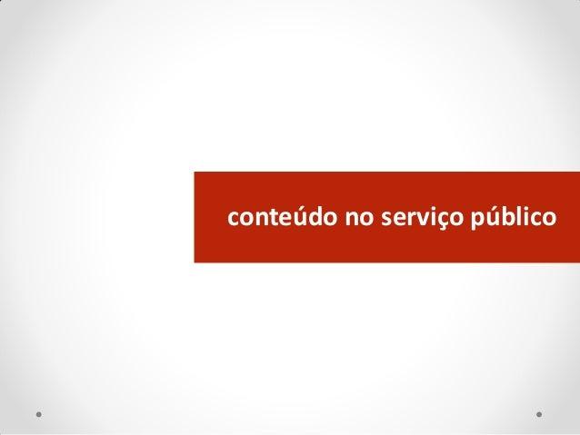 conteúdo no serviço público