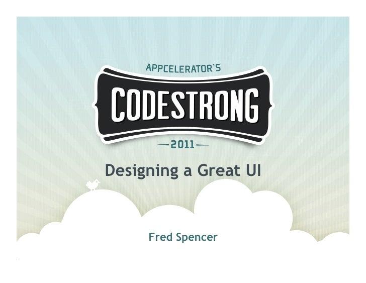 Designing a Great UI