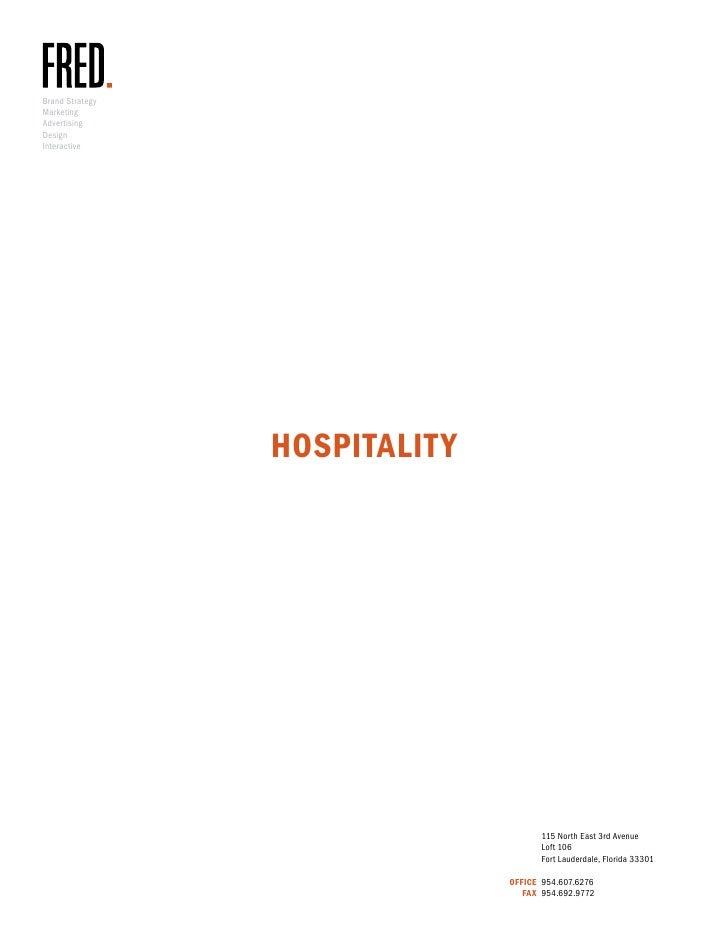 Fred hospitality book