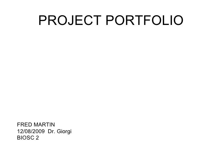 Fred Martin Micrograph Portfolio