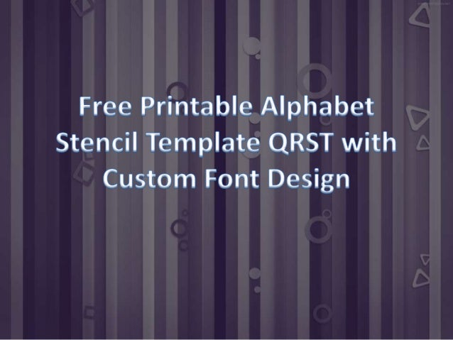 printable alphabet stencil template qrst unique design With unique letter stencils