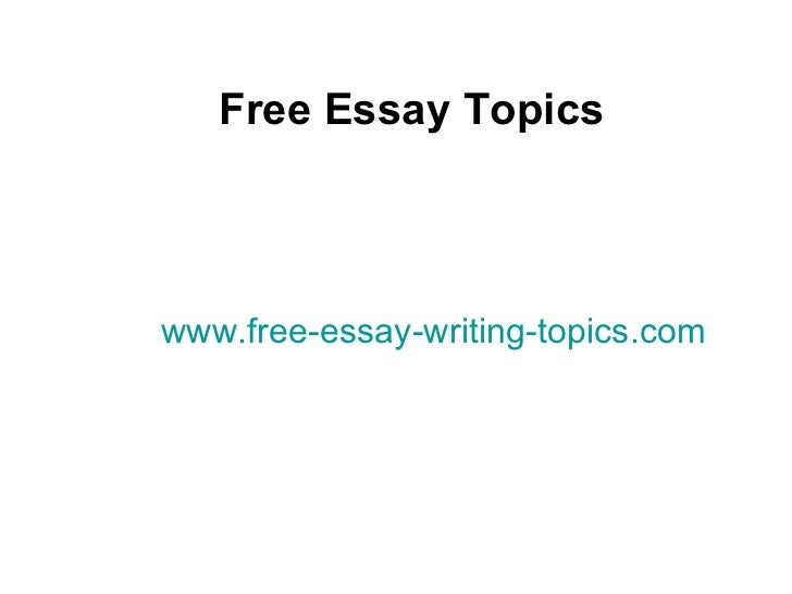 chronological essay topics