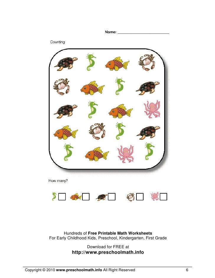 math worksheet : math worksheets for kindergarten and preschool : Preschool Math Worksheets Free