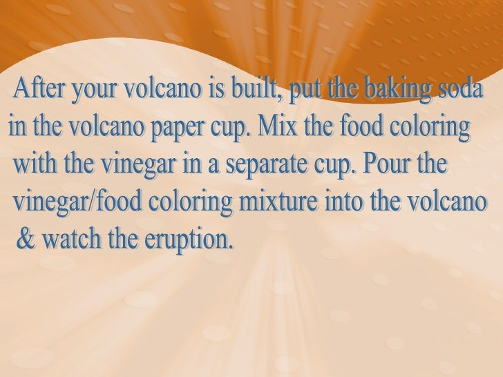 baking soda volcano research paper