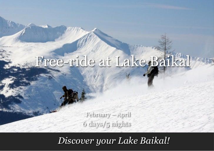 Free   ride at lake baikal
